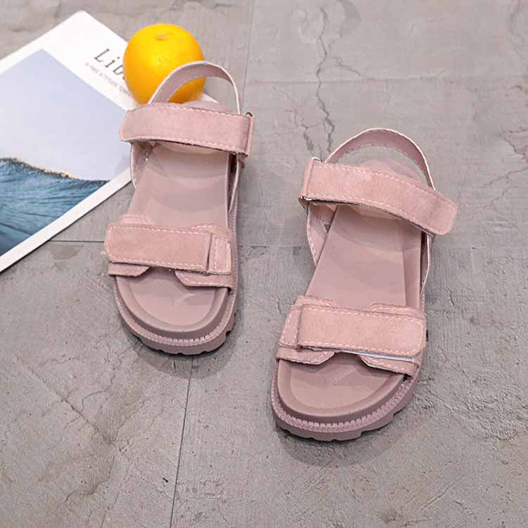 Women shoes adult solid sandals women 2019 fashion med heel height women sandals flat with casual shoes woman sandals female  (13)