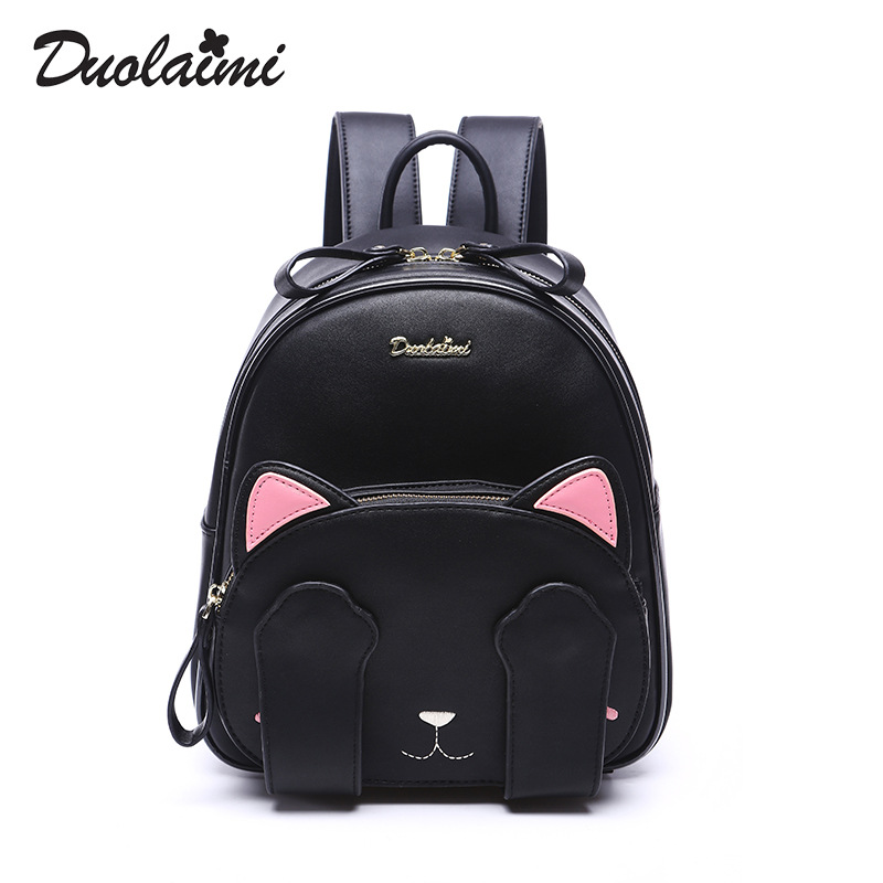 Fashion Cat Backpacks women mini backpack Leather School bag Teenage Girls small backpack casual Female Travel backpack mochilas genuine new upper case base for lenovo thinkpad x1 yoga 1 st 20fq 20fr laptop palmrest bottom cover scb0k40141 00jt837 00jt863
