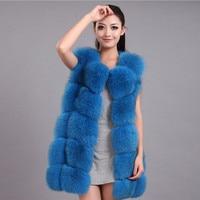 Natural Real Fox Fur Vest Sleeveless Coat whole skin