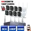 8CH IR HD Home Security Wireless NVR IP Camera System 1080P CCTV Set Outdoor Wifi Cameras