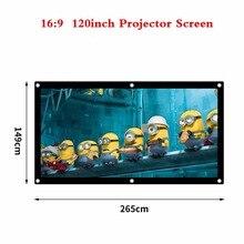 60 100 120 дюймов проекционный проектор экран холст матовый белый портативный 3D HD Домашний кинотеатр настенный