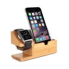 Бамбуковые оригинальные настольные подставки для 5,5 дюймов Apple iphone X 8 8 Plus, заряжаемые многофункциональные держатели для смартфонов, крепление для часов