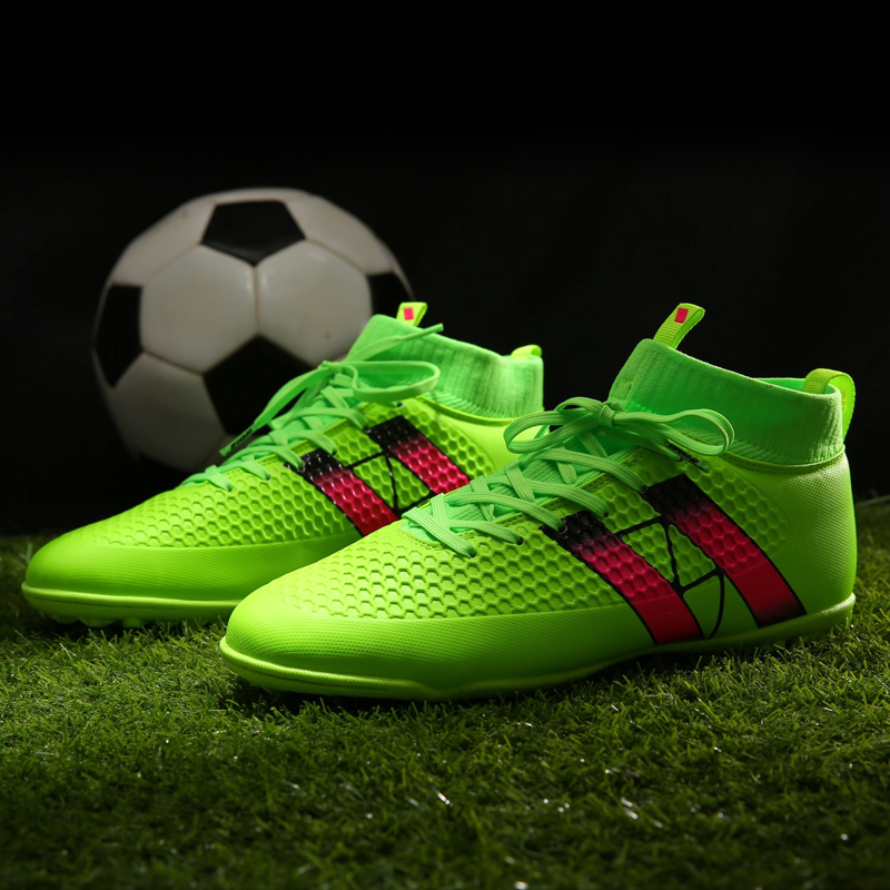 Men's Sport Football Shoes Spring Summer Male Turf Superfly Futsal Sneakers Lace Up Boys Teenager Original Soccer Shoes цена