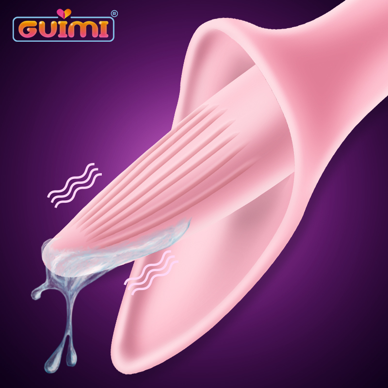 GUIMI Clit Licking Vibrator Blowjob Tongue Vibrating Nipple Massage Oral <font><b>Sex</b></font> Clitoris Stimulator Vagina Orgasm <font><b>Sex</b></font> Toy for Women image