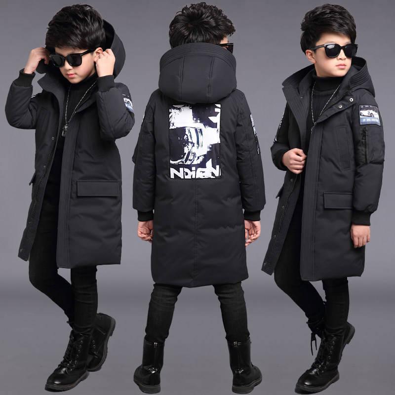 Детская одежда мужская хлопковая куртка 2019 новая детская длинная хлопковая куртка зимняя плотная теплая хлопковая одежда для мальчиков