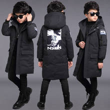 Childrens clothing mens cotton jacket 2019 new childrens long cotton jacket boys winter thick warm cotton clothing