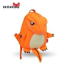 Nohoo подростка мультфильма оранжевый дракон парни школьные зеленый животных рюкзак ребенка