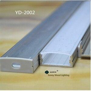 Image 2 - 10 30 יח\חבילה, 2 m/pc אלומיניום פרופיל שורה כפול led הרצועה, חלבי/שקוף כיסוי עבור 20mm pcb, פרופיל עבור גבוהה כוח led