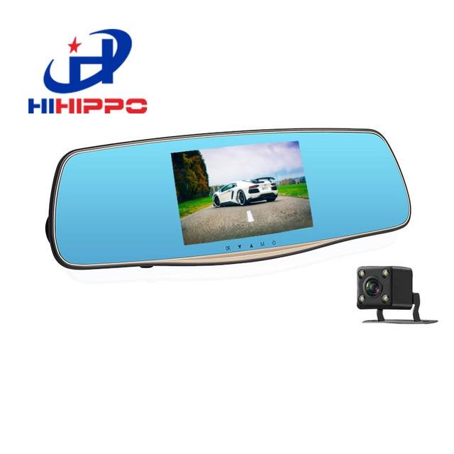 Hihippo видеорегистраторы 1080 P HD с двумя объективами зеркало заднего вида регистраторы с автомобилем рекордер и Обратный парковочная система автомобильный видеорегистратор заднего вида