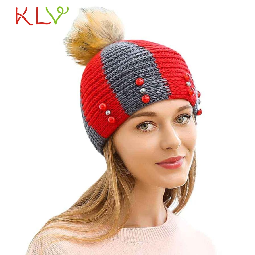 Skullies & Beanies Women Fashion Keep Warm Hemp Flowers Knitted Hat  Levert Dropship 302 Hot Dropship skullies