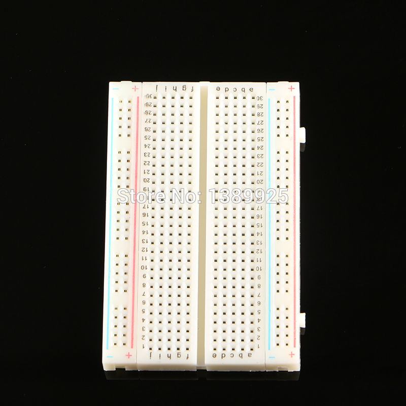 Free Shipping! 10pc Quality Mini Bread Board / Breadboard 8.5CM X 5.5CM 400 Holes