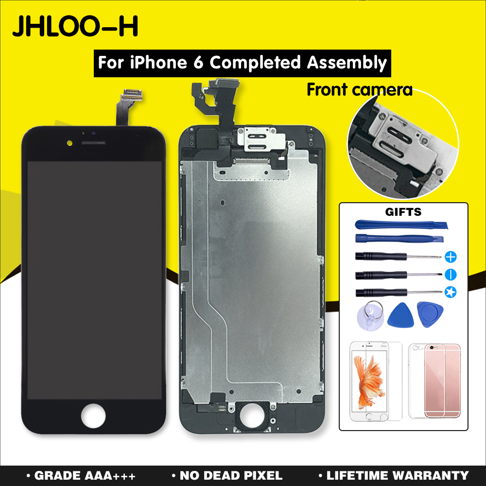 AAA+++ For iPhone 6 6S PLUS LCD Full Assembly With Camera Home Button Touch Screen For iPhone 5S Display Replacement Completed image
