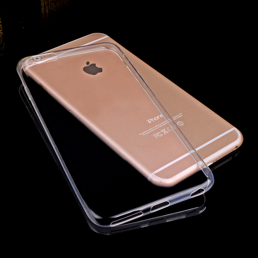 Caso Claro transparente para el iphone 7 iPhone 7 Plus 6 6 s 5 5S Soft Gel TPU F