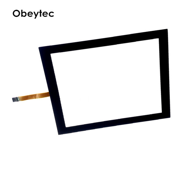 """Obeytec 10.4"""" Resistive Touch Screen Overlay, with black rim,capacitive type,with EETI controller, 5V power supply, TS104A5BC001"""