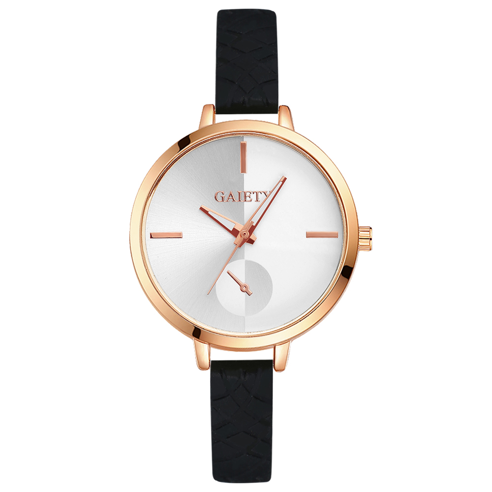 2018 Gaiety Luxury Brand Women Sport Watches Silicone Strap Fashion Casual Ladies New Rose Gold Quartz Analog Black G244 gaiety women brand watches luxury rose gold leather quartz ladies wristwatches fashion sport women casual dress watch clock g447