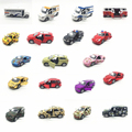 Toy model Camouflage coating alloy car model Sports car ambulance school bus off-road vehicles to open the door back to power