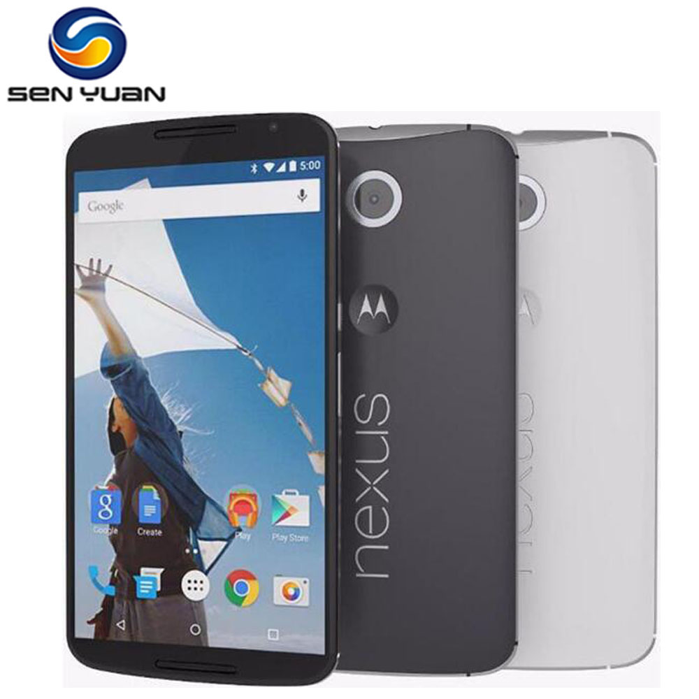 "Цена за Оригинал Motorola Google Nexus 6 XT1103 XT1100 разблокированный телефон 3 ГБ RAM 32 ГБ/64 ГБ ROM Quad Core 5.96 ""экран 13MP 4 Г LTE Телефон"