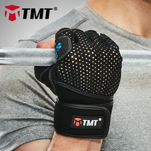 TMT crossfit Gym Gloves dumbbell Sports font b Fitness b font Weight Lifting Gloves Training font