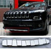 Wotefusi ABS Galvanoplastie Pare-chocs Avant Protecteur Plaque Garde Pour Jeep Cherokee 2013 2014 2015 2016 [QPA394]