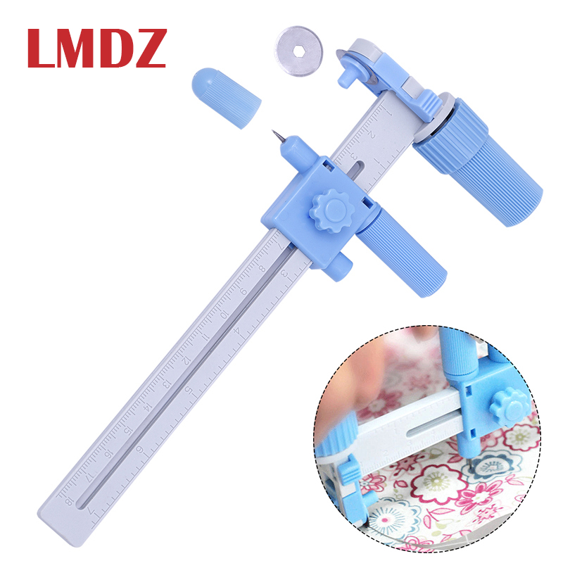 LMDZ Rotary Compass Cutter Cutting Cut Circles with Blades Tool Circles Round Cutter for Paper Leather Quilting Cutting Tools