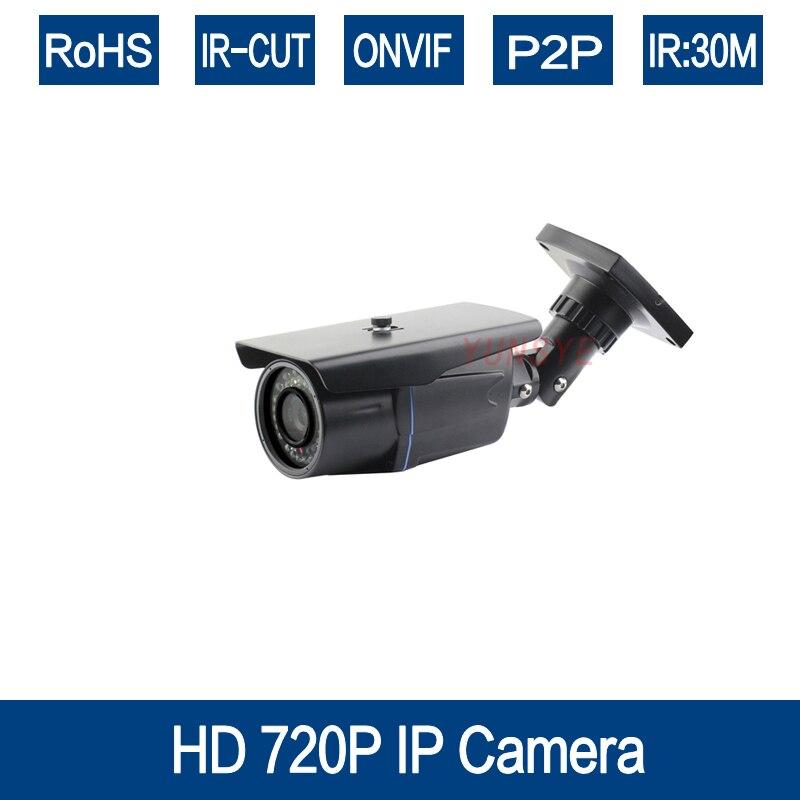 ФОТО YUNSYE 1280*720P 1MP ONVIF Bullet IP Camera Outdoor Waterproof P2P IR-Cut Filter Fixed Lens CMOS H.264 Network Camera 24pcs led