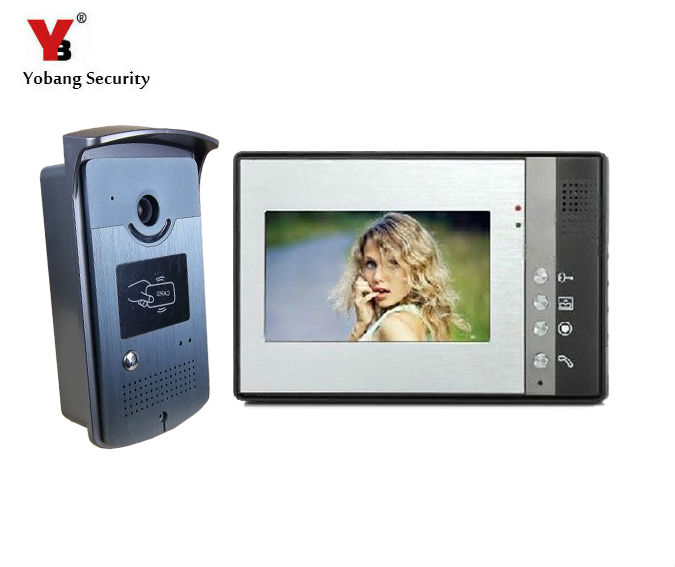 Yobang Security Yobang Security 7 LCD HD Apartment Wired Video Doorbell Doorphone Intercom,Night Version Intercom System Yobang Security Yobang Security 7 LCD HD Apartment Wired Video Doorbell Doorphone Intercom,Night Version Intercom System