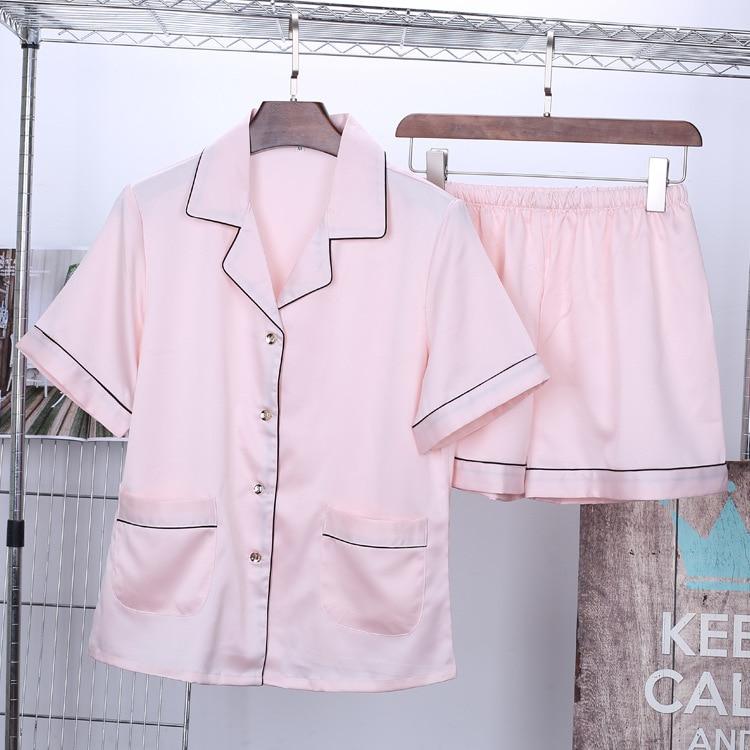 Women's Satin Pajamas Short Sleeve