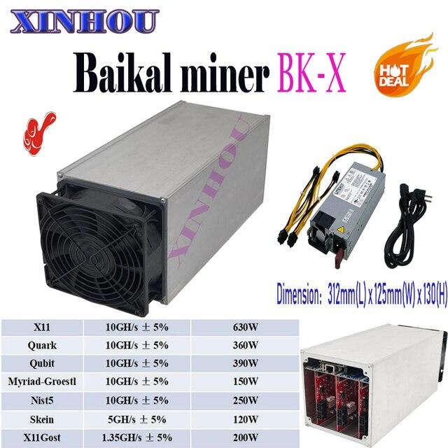 Байкал BK-X гигантский X10 10GH/S Поддержка 7 algorithums Asic X11 хвг Майнер с 750 W блок питания лучше чем Antminer S9 S9i L3 T9