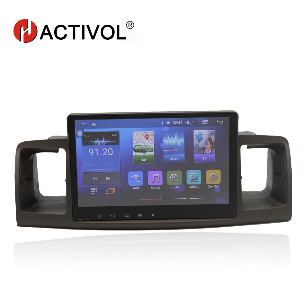 Bway 9 autoradio pour TOYOTA Corolla EX Corolla E120 android 7.0 lecteur dvd de voiture avec bluetooth, GPS, CFC, wifi, lien de Miroir, DVR