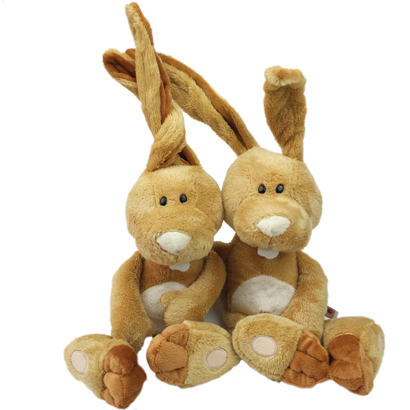Birthday gift 35cm 1pc Counters Genuine Easter Bunny Big Long Ears Rabbit Children Favorite Plush toy free shipping image