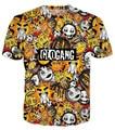 Harajuku style classic cute cartoon glo gang tee 3d t shirt women/men summer hip hop tops tees glogang clothing casual t shirts