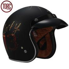 TORC Cruiser Motorcycle Helmet Harley 3/4 Open Face Vintage Helmet T50E Moto Casque Casco motocicleta Capacete DOT Helmets