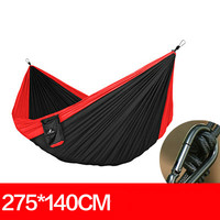 High Quality Portable Parachute Cloth Durable Solid Single Outdoor Hammock Hammock Essential Adult Swing 275 140cm