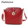 2016 fashion shell Quilted women Messenger bag Femal lock casual shoulder crossbody bags for women black wine red white ZW01