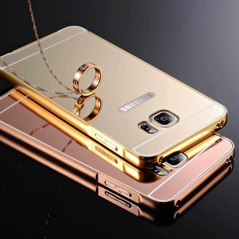 best sneakers 7f7ac 08242 US $6.65 |Mirror Back Case For Samsung Galaxy Note 5 N9200 Aluminum Metal  Frame +Acrylic Hybrid Back Cover Rose Gold Note 5 Fundas Cases on ...