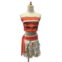 Adult Movie Princess Moana Cosplay Costume Christmas Halloween Costume For Women Party Cosplay Skirt Moana Dress