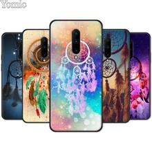 Silicone Phone Case for Oneplus 7 7 Pro 6 6T 5T Soft Cover Shell for Oneplus 7 7Pro The dream catcher mandala Black Case