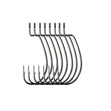 Trulinoya 8pcs/package Fishing Hooks Wide crank hook Soft Bait Worm Hook