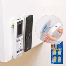 2Pcs/set Paste Type Remote Controller Storage Hooks Free Seamless Strong Wall Hook()