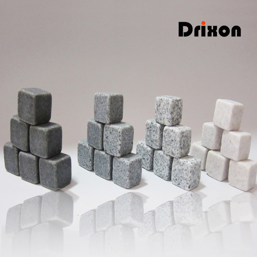 Drixon 100% Natural Whisky Stones Smutte Ice Cube Whisky Stone Whisky Rock Cooler Bryllup Gave Favor Christmas Bar