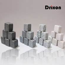 Drixon 100% Natural Whiskey Stones Sipping Ice Cube Whisky Stone Whisky Rock Cooler Wedding Gift Favor Christmas Bar(China)