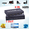 New 4x1 HDMI Switch Real 4K x 2K HDMI Switcher 4 input 1 Out Converter adapter For 720p 1080i 1080p box 115x60X20mm 3840 x 2160