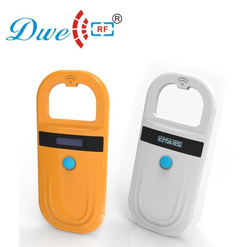 DWE CC RF 134,2 khz lecteur d'identification sans fil micro détecteur de puce d'identification animale pour animaux de compagnie