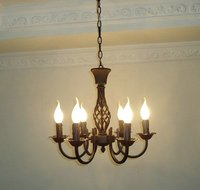 Free Shipping 6 Pieces E14 Black European Wrought Iron Chandeliers Classical Candle Chandelier Bedroom Chandelier