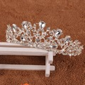 A40 Elegant Noble Crystal Rhinestone Crown Leaf Wedding Party Bride Tiara Headband