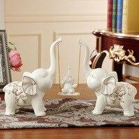 Фарфоровые качели игра слон икры Статуэтка керамические животные родство статуя подарок ремесло орнамент для родителей и украшения дома