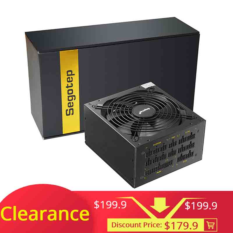 1250W GP1350G Full Modular ATX PC Computer Mining Power Supply Gaming PSU For AMD Crossfire Active
