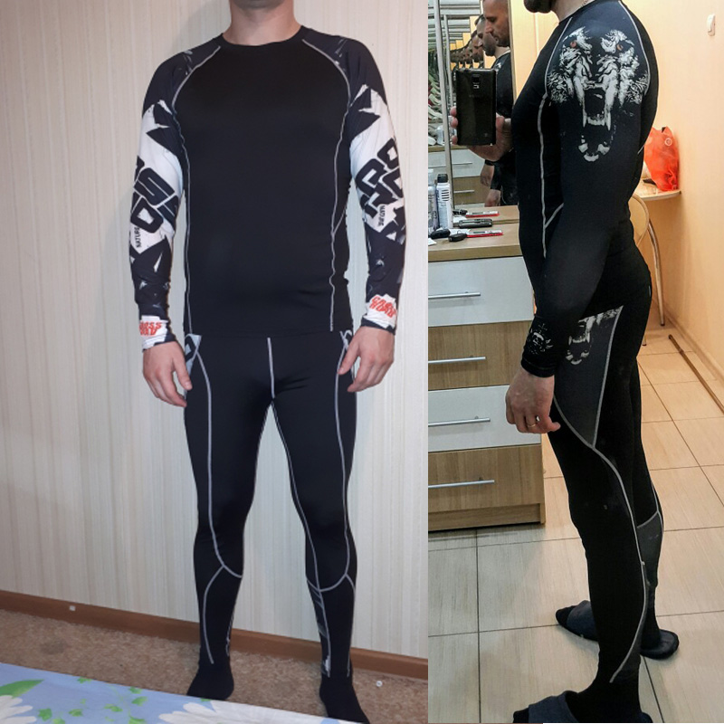 rash guard mma mens clothing fitness suits for compression pants crossfit fitness Mens leggings Mens tracksuit 4XL