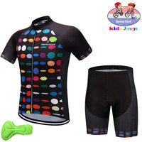 2019 szybkie suche dla dzieci MTB jazda na rowerze Jersey zestaw Pro Team Nw rower dla dzieci odzież chłopcy lato oddychająca odzież rowerowa jazda na rowerze szorty w Zestawy rowerowe od Sport i rozrywka na