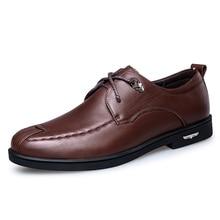 2017 Spring Autumn Men's Dress Shoes Classic Genuine Leather Flats Men Shoes Luxury Office Men Oxford Shoes Business